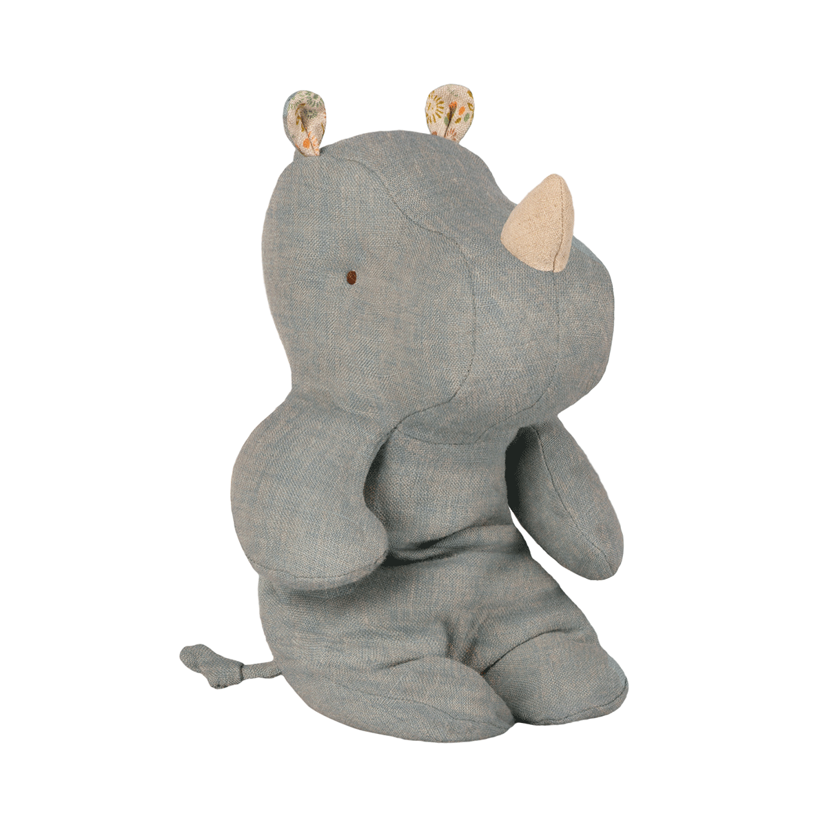 maileg safari friends small rhino in dove grey- danish design - freyr and fell - sustainable design - natural home - alternative gift guide - natural Christmas