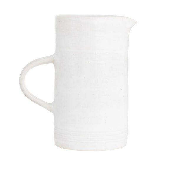 White Ceramics - Stoneware - Hand Thrown - Ceramics - Artisan - Concept Store - Large Jug - White Ceramic Jug