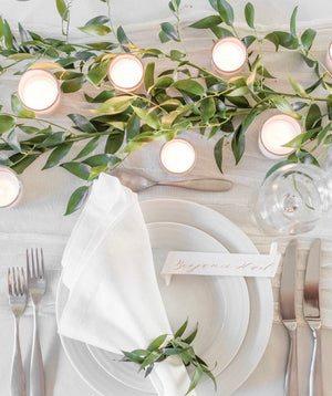 French Country - White Bauble Table Cloth