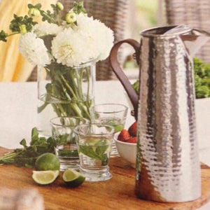 large silver water jug