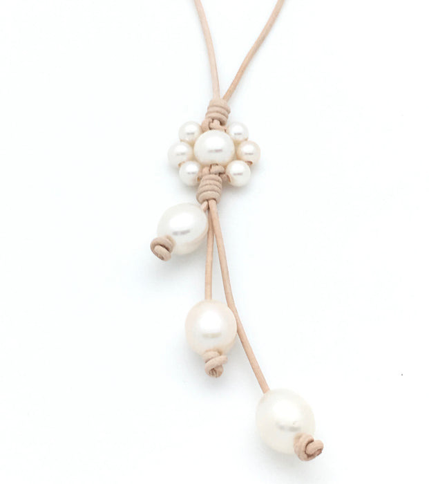Flower Lariat Necklace