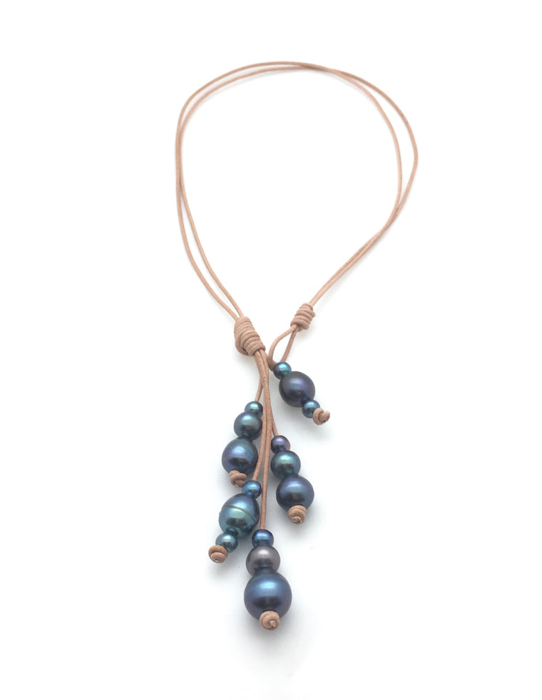 15 Pearl Lariat Necklace