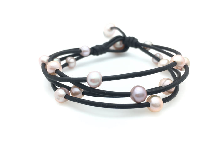 4 String Bracelet with Small Pearls