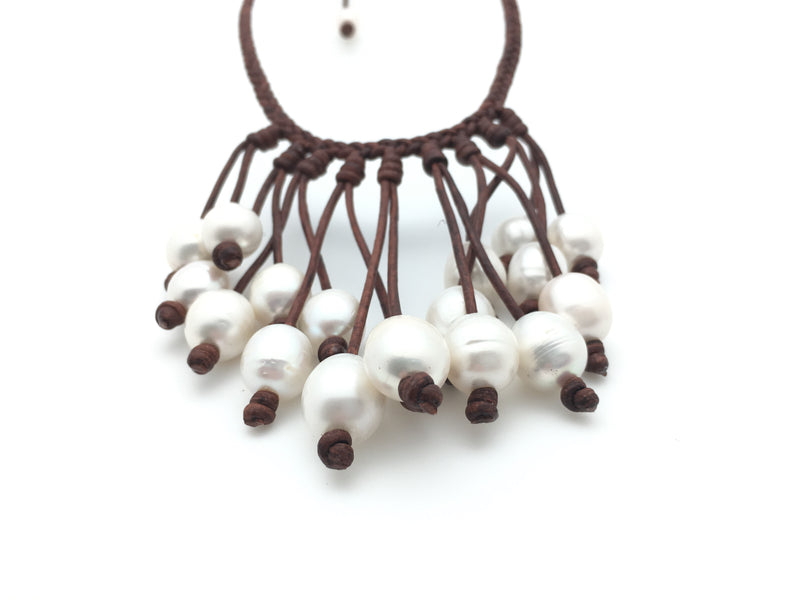 20 Pearl Bib Necklace