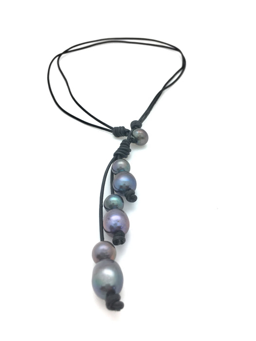 7 Pearl Lariat Necklace