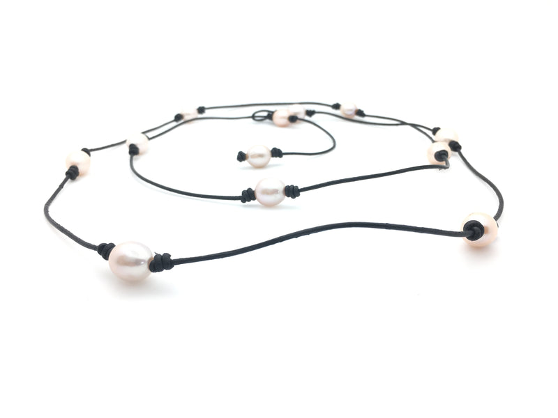12 Pearl Lanyard Necklace