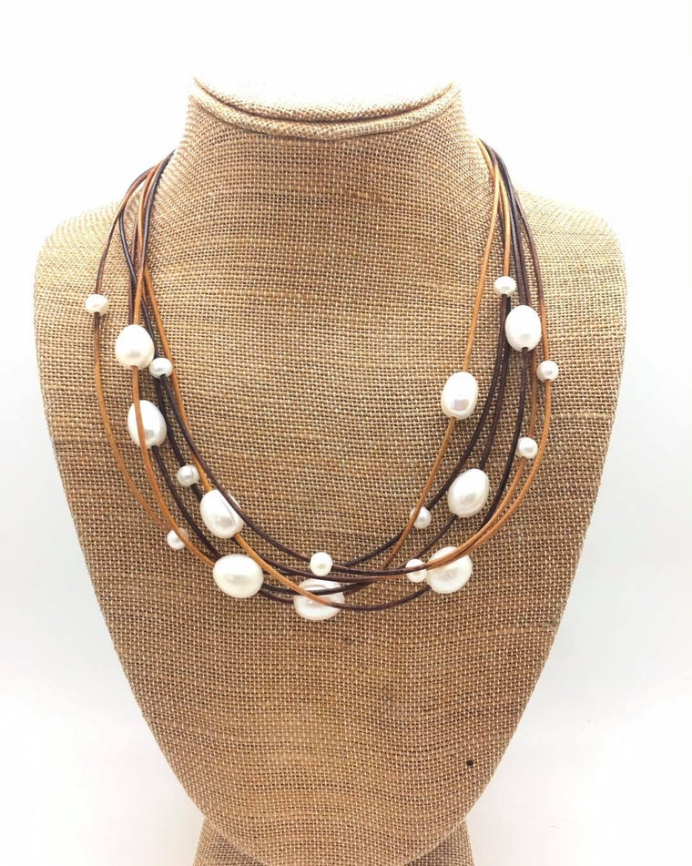 Six String Pearl Necklace
