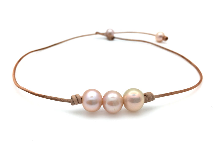 3 Pearl Choker Necklace