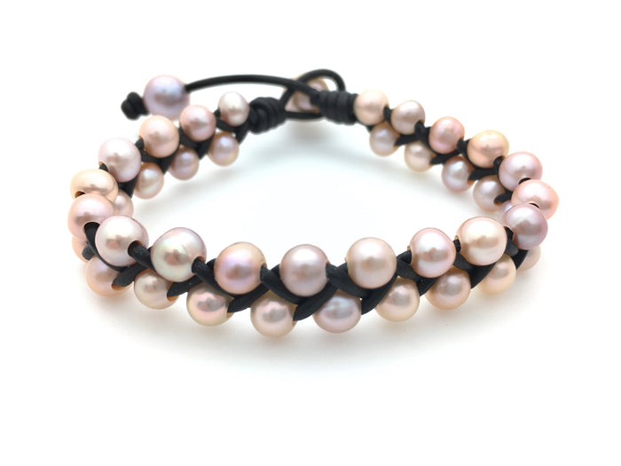 Big Braid Pearl Bracelet