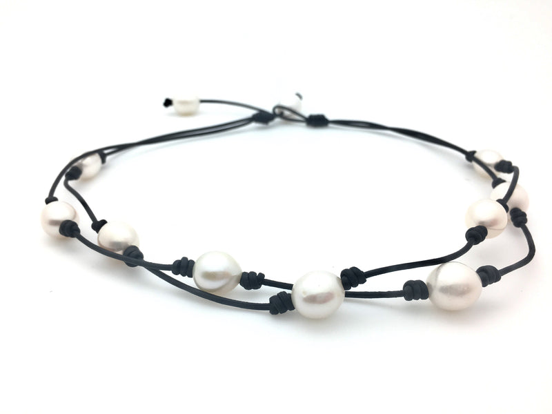 2 String 2 Way Pearl Necklace