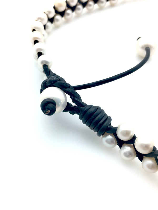 Big Braid Pearl Necklace