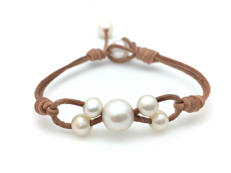 Infinity Bracelet with Four Small Pearls