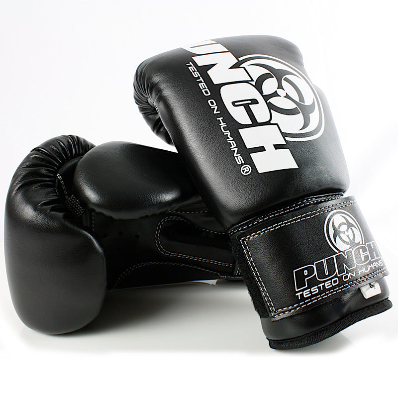 Kids Junior Urban Boxing Gloves Black - Punch