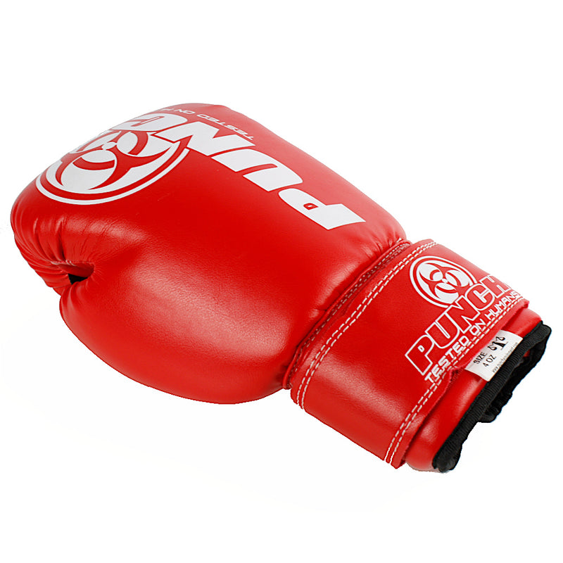 Kids Junior Urban Boxing Gloves Red Back - Punch