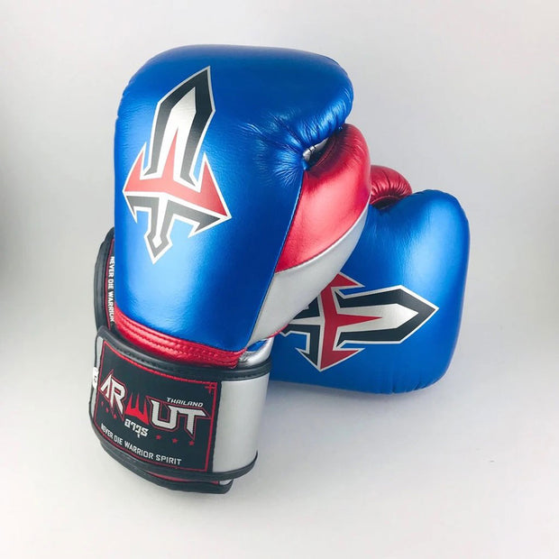 Arwut Muay Thai Boxing BG2 M Blue/Silver/M Red Front