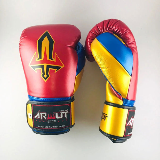 Arwut Muay Thai Boxing BG2 M Red/Gold/M Blue Front Side