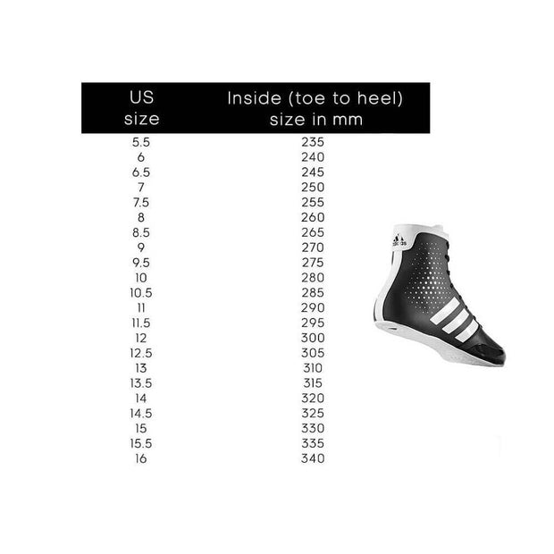 Adidas Boxing Shoes Size Chart