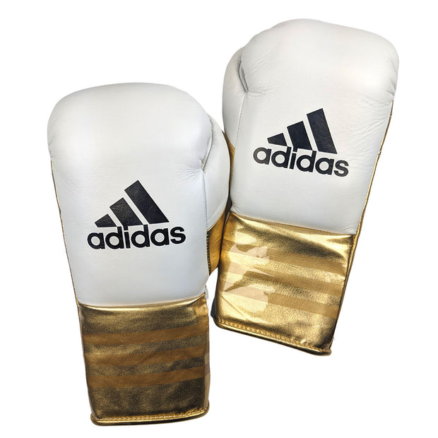 Adidas Speed 750 Adistar Fight Gloves 10oz Metallic Gold Front