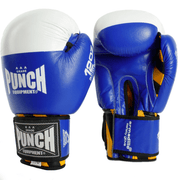 Punch Equipment Boxing Gloves 12oz / Blue with White Armadillo Safety Boxing Gloves V-30 - Punch Equipment