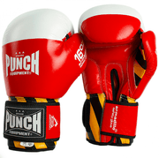 Punch Equipment Boxing Gloves 12oz / Red with White Armadillo Safety Boxing Gloves V-30 - Punch Equipment