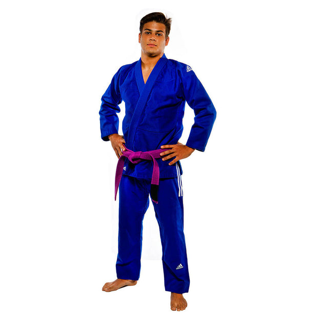 Adidas IBJJF Champion Blue BJJ Uniform Front
