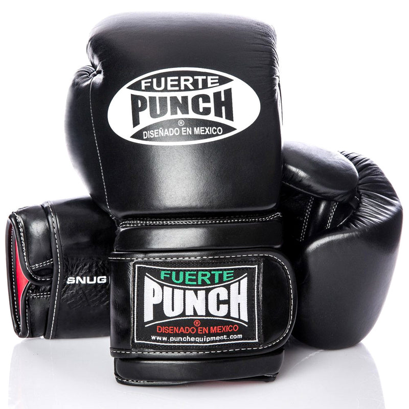 Black Punch Mexican Fuerte Elite Boxing Gloves