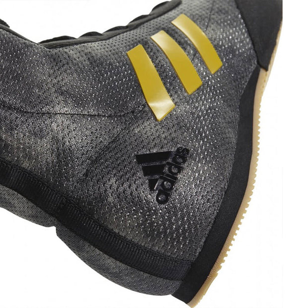 Adidas Box Hog Plus Core Black/Matt Gold & Raw Gold Back Side Right