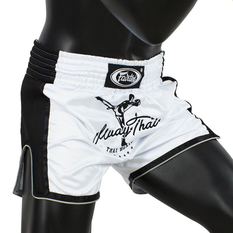 Muay Thai Shorts - BS1707 White Front Side
