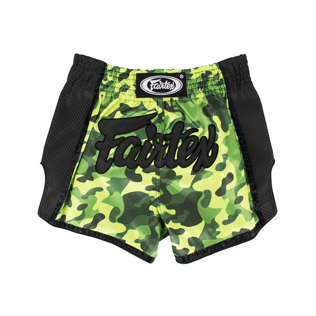 Muay Thai Shorts - BS1710 Green Camo Front'