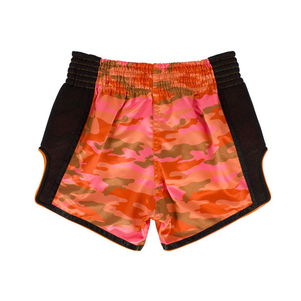 Muay Thai Shorts - BS1711 Orange Camo Back