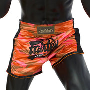 Muay Thai Shorts - BS1711 Orange Camo Front
