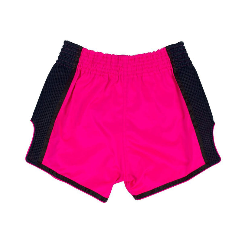 Muay Thai Shorts - BS1714 Shocking Pink Back