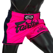 Muay Thai Shorts - BS1714 Shocking Pink Front Side
