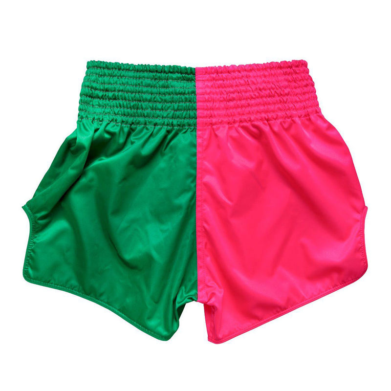 Muay Thai Shorts - BS1911 Pink/Green Back