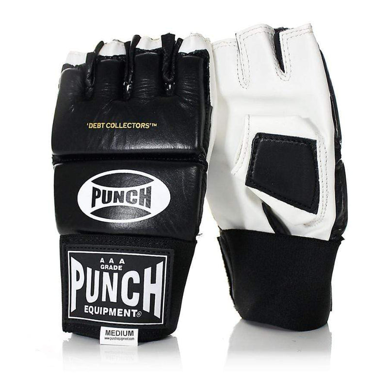 Punch Equipment MMA Gloves Small / Black with White Debt Collectors MMA Training Mitts - Punch Equipment