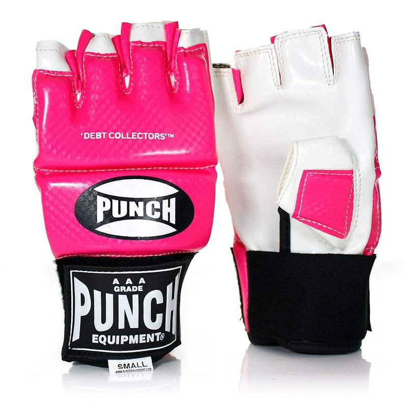Punch Equipment MMA Gloves Small / Pink with White Debt Collectors MMA Training Mitts - Punch Equipment