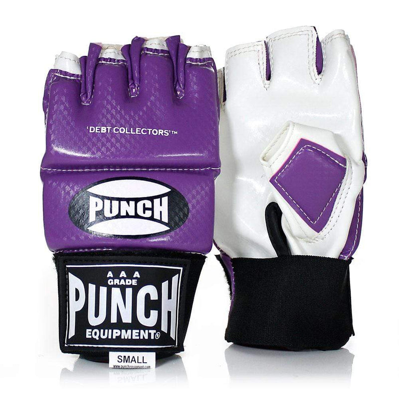 Punch Equipment MMA Gloves Small / Purple with White Debt Collectors MMA Training Mitts - Punch Equipment