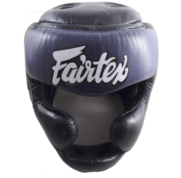 Fairtex Headgear Small / Black/Blue Fairtex Diagonal Vision Sparring Headguard  (HG13)