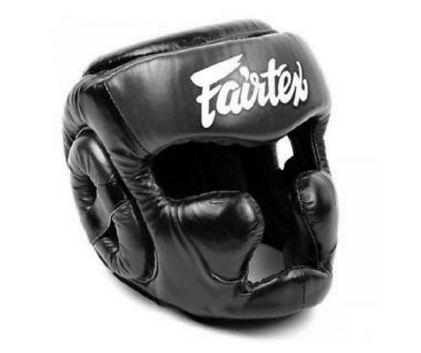 Fairtex Headgear Small / Black Fairtex Diagonal Vision Sparring Headguard  (HG13)