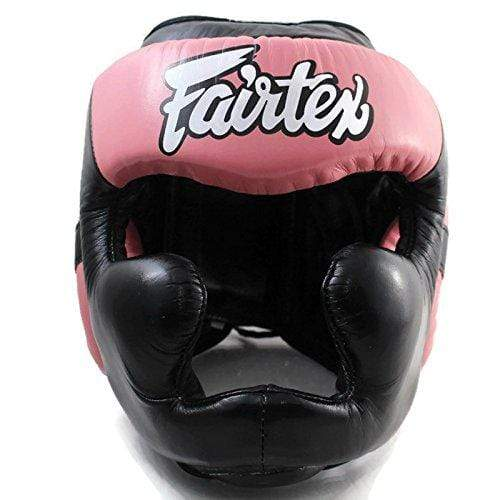 Fairtex Headgear Small / Black/Pink Fairtex Diagonal Vision Sparring Headguard  (HG13)