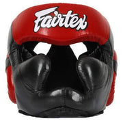 Fairtex Headgear Small / Black/Red Fairtex Diagonal Vision Sparring Headguard  (HG13)