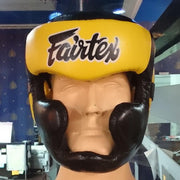 Fairtex Headgear Small / Black/Yellow Fairtex Diagonal Vision Sparring Headguard  (HG13)