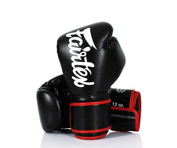 Fairtex Boxing Gloves 8 oz / Black & Red Fairtex Microfiber Lightweight Boxing Gloves (BGV14)