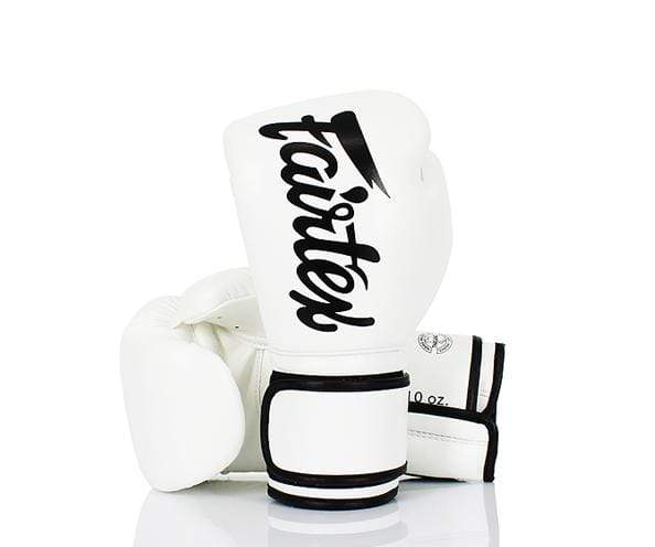 Fairtex Boxing Gloves 8 oz / White & Black Fairtex Microfiber Lightweight Boxing Gloves (BGV14)