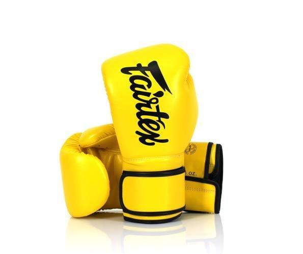 Fairtex Boxing Gloves 8 oz / Yellow Fairtex Microfiber Lightweight Boxing Gloves (BGV14)