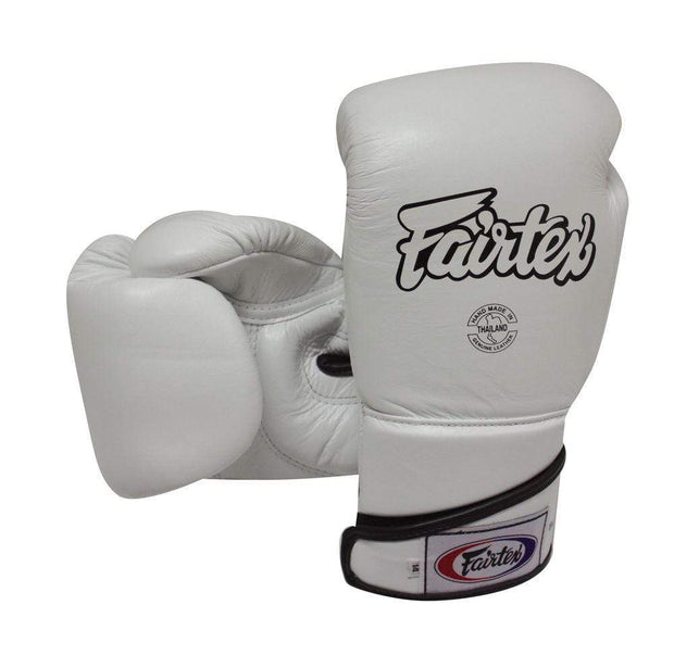 Fairtex Boxing Gloves 10oz / White Fairtex Muay Thai Sparring Boxing Gloves (BGV6)