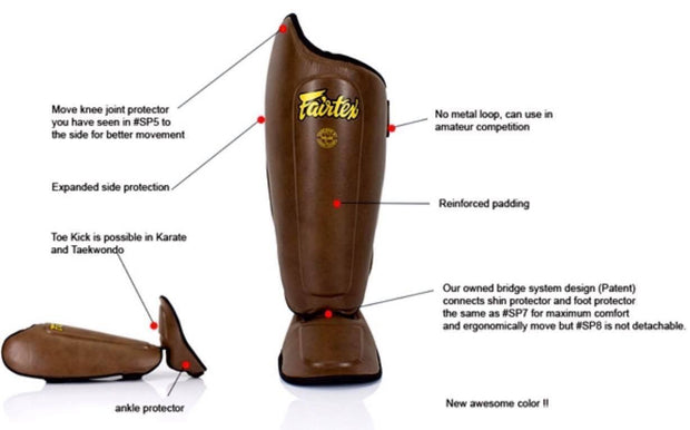 Fairtex Shin Pads Fairtex Non-Detachable Shin Guard (SP8)