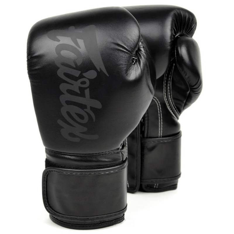 Fairtex Boxing Gloves 8 oz Fairtex Solid Black Microfiber Boxing Gloves