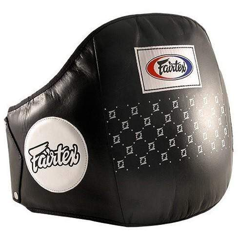 Fairtex Belly Pads Black Fairtex Standard Leather Belly Pad Belt (BPV1)