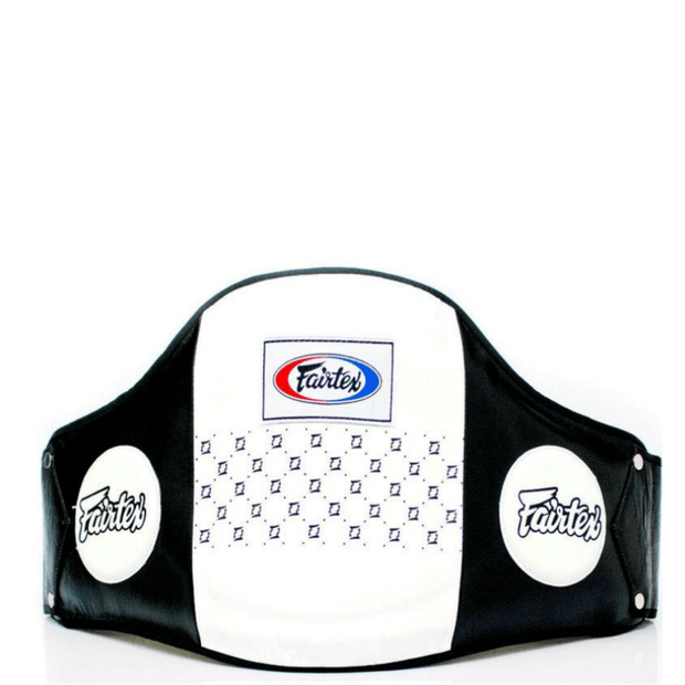 Fairtex Belly Pads White Fairtex Standard Leather Belly Pad Belt (BPV1)